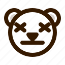 avatar, bear, emoji, face, lifeless, profile, teddy icon
