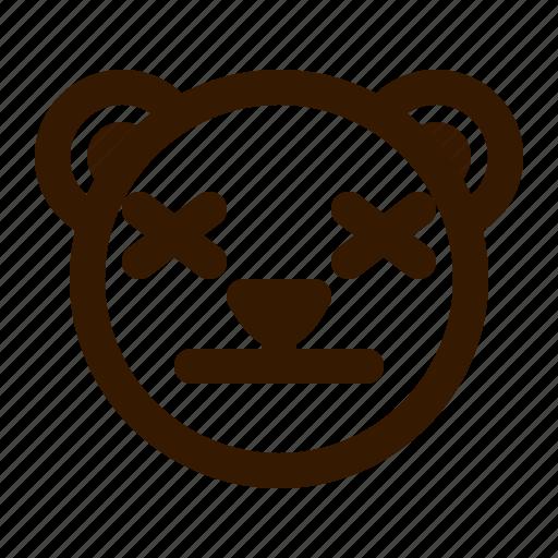 avatar, bear, emoji, face, lifeless, profile, teddy icon
