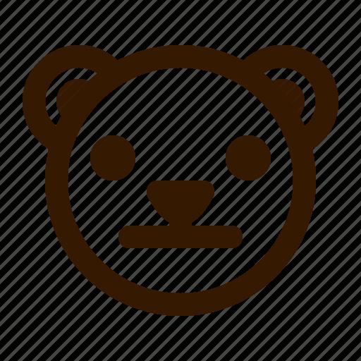 avatar, bear, emoji, face, neutral, profile, teddy icon