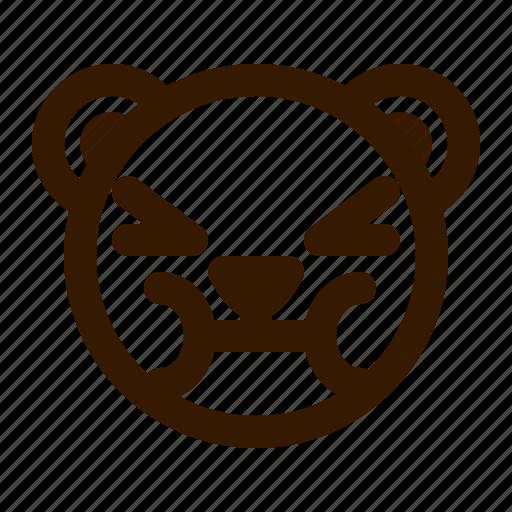 avatar, bear, emoji, face, profile, sick, teddy icon