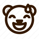 avatar, bear, emoji, face, profile, sorry, teddy icon