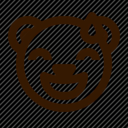 avatar, bear, emoji, face, profile, sorry, teddy icon