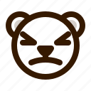 avatar, bear, emoji, face, profile, stunned, teddy icon
