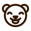 avatar, bear, emoji, face, profile, teddy, tongue icon