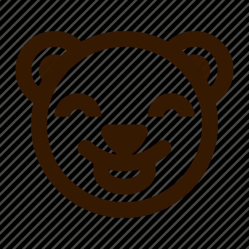 avatar, bear, emoji, face, profile, teddy, tongue icon