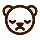 avatar, bear, emoji, face, profile, teddy, upset icon