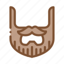 beard, mustache, stylish, whisker