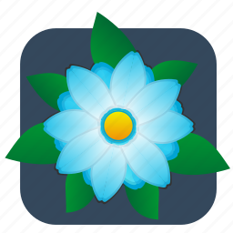 flower, plant, top icon