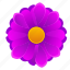 beautiful, bud, flower, pink, violet icon