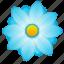 blue, bud, flower, plant icon