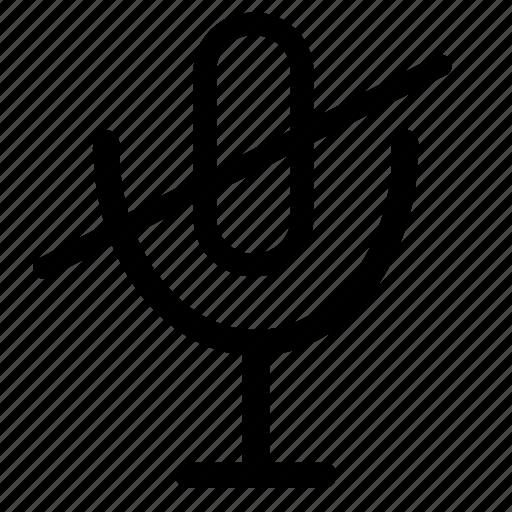 microphone, microphone-mute, mute, mute-microphone icon