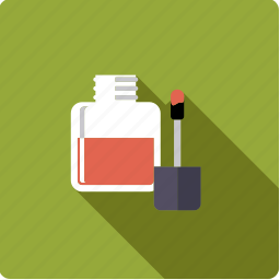 bathroom, beauty, body care, brush, hygiene, nail varnish, varnish icon