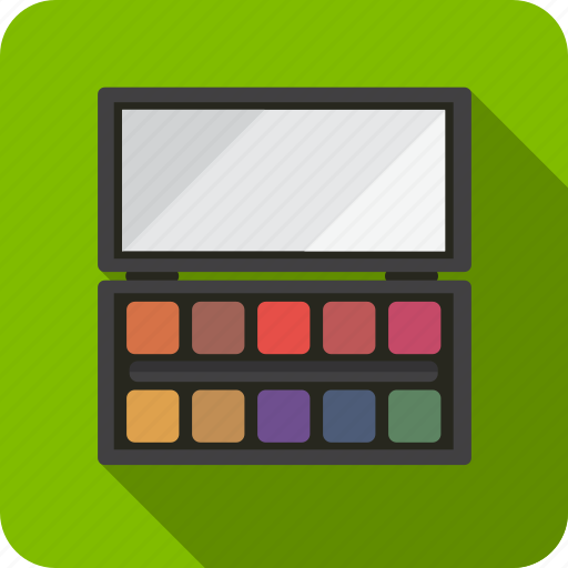 beauty, eye, eyeshadow, make, palette, shadow, up icon