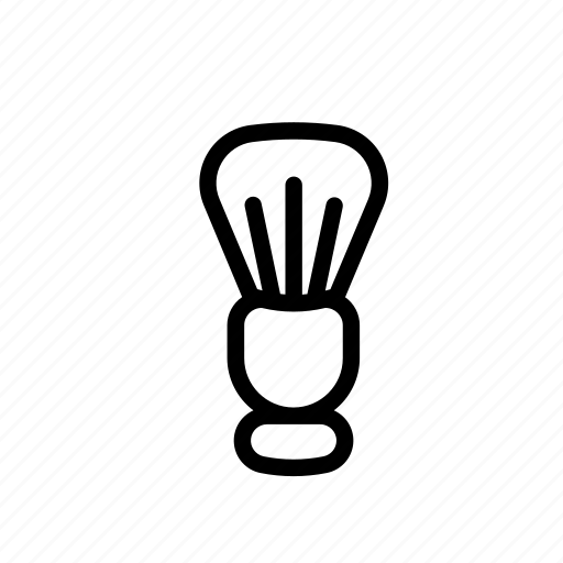 barber, barber brush, barber brushbarberbeautybrushshave, beauty, brush, shave icon