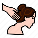back, beauty, cleaning, fashion, hair, massage, spa icon