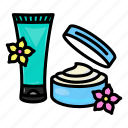 cosmetic, cream, lotion, makeup, tube, whiting icon