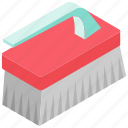 brush cleaner, cleanup, dust, element, floor icon