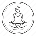 lotus, meditation, pose, yoga icon