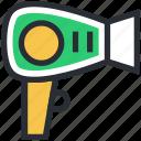 blow dryer, hair dryer, hair styling, salon electricals, hair heater icon