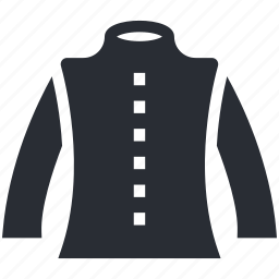 blazer, clothing, coat, jacket, pullover icon