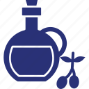 bottle, cooking oil, oil, olive oil, olive oil bottle icon