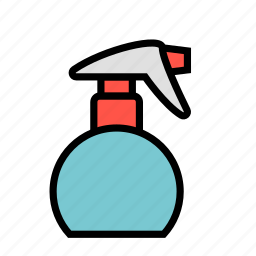 beauty, hair, salon, spray, water icon