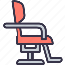 barber, chair, cutting, furniture, hair, hairdresser, salon icon
