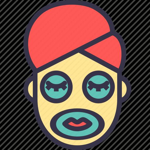 beauty, face, facial, mask, parlour, treatment, wellness icon
