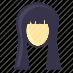 beauty, face, girl, hair, hairstyle, long, treatment icon