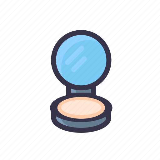 compact, foundation, makeup, mirror, powder icon