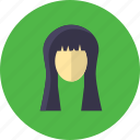 beauty, face, girl, hair, hairstyle, long, treatment icon