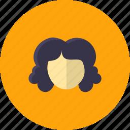 curly, cutting, face, fashion, girl, hair, salon icon