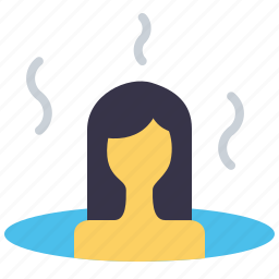 bath, hot, sauna, spa, steambath, treatment, wellness icon