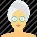 beauty care, beauty treatment, facial treatment, spa treatment, women face icon