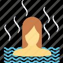 body care, finnish bath, sauna, sauna bath, spa bath, spa treatment icon