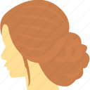 hair salon, hair wig, hairdressing, hairstyling, woman hairstyle icon