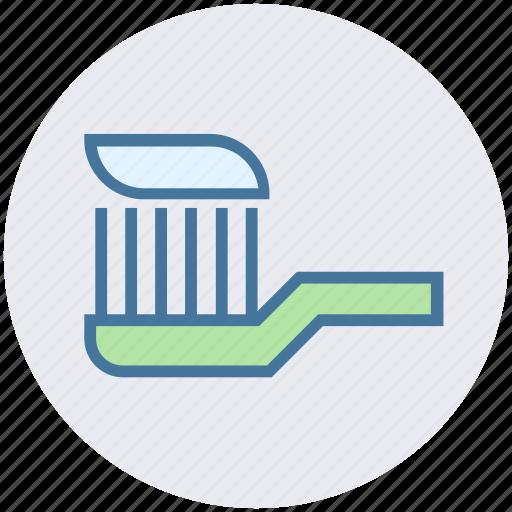 brush, dental beauty, dental care, dental hygiene, toothbrush, toothpaste icon