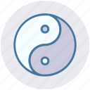 sign, spa, yin and yang, yin yang, ying yang icon