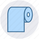 bathroom, beauty and spa, cleaning paper, paper roll, tissue paper, tissue roll, toilet paper icon