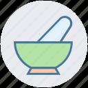 beauty, bowel, mortar, pestle, pharmacy, salon, spa icon