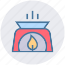 candle, fire, flame, light, nature, relax, spa icon