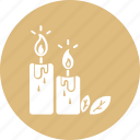 bougies, candle, candlelight, soft light, spa candle icon