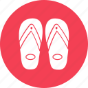 beach sandals, flip flops, footwear, home slippers, slippers icon