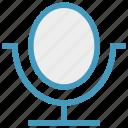 beauty, care, cosmetics, makeup, mirror, spa salon, table mirror icon