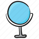 beauty, hand mirror, looking glass, mirror, vanity mirror icon