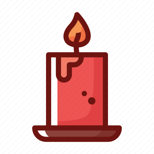 beauty clinic, candle, christmas, set, spa icon