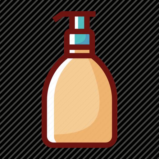 beauty clinic, bottle, lotion, set, shampoo, spa icon