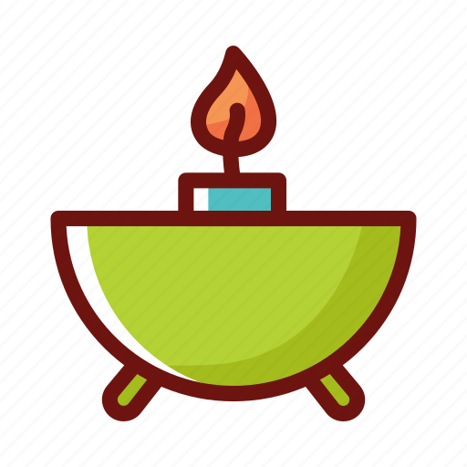 beauty clinic, candle, set, spa, therapy icon
