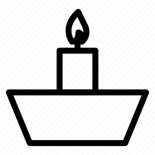 birthday, candle, hot, light, torch icon