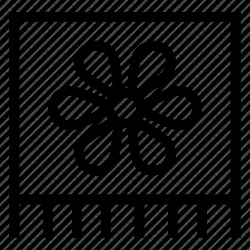 clean, flower, romal, towel icon